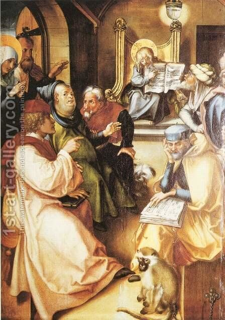 Twelve year old Jesus in the Temple by Albrecht Durer - Reproduction Oil Painting