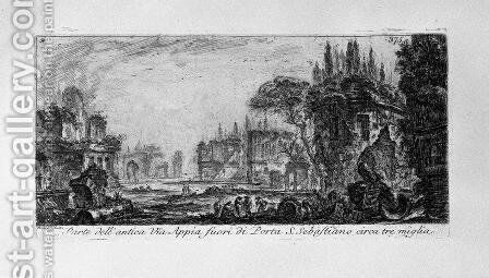 Temple of Clitunno by Giovanni Battista Piranesi - Reproduction Oil Painting