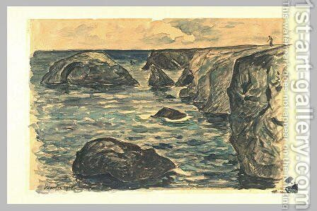 Cliffs of the wild coast by Maxime Maufra - Reproduction Oil Painting