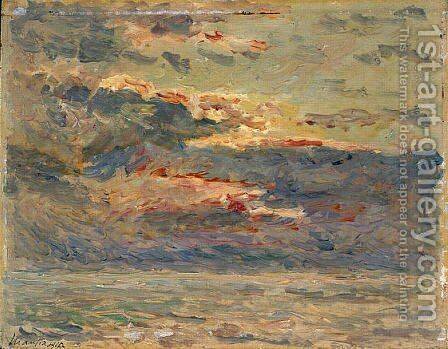 Sunset on the Sea by Maxime Maufra - Reproduction Oil Painting