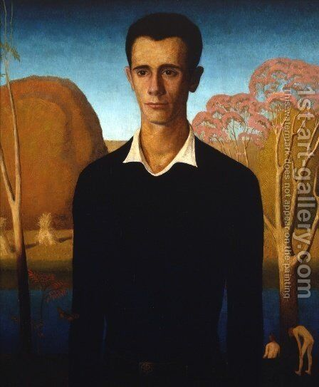 Arnold Comes of Age by Grant Wood - Reproduction Oil Painting