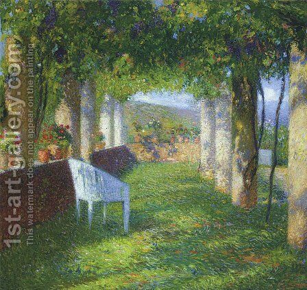 The Arbour 2 by Henri Martin - Reproduction Oil Painting