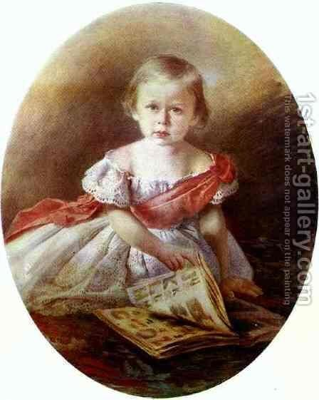 Portrait of a Girl by Ivan Nikolaevich Kramskoy - Reproduction Oil Painting