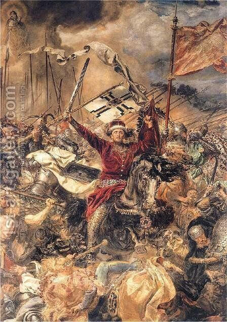 Battle of Grunwald, Witold (detail) by Jan Matejko - Reproduction Oil Painting