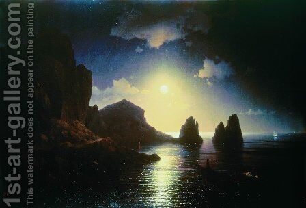 Sea view 8 by Ivan Konstantinovich Aivazovsky - Reproduction Oil Painting