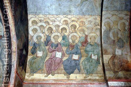 The Last Judgement Angels and apostles 2 by Andrei Rublev - Reproduction Oil Painting