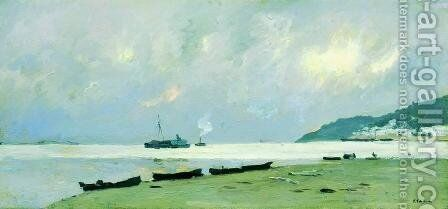Yurievets. Gloomy Day on the Volga. by Isaak Ilyich Levitan - Reproduction Oil Painting