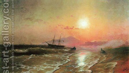 Island of Ischia by Ivan Konstantinovich Aivazovsky - Reproduction Oil Painting
