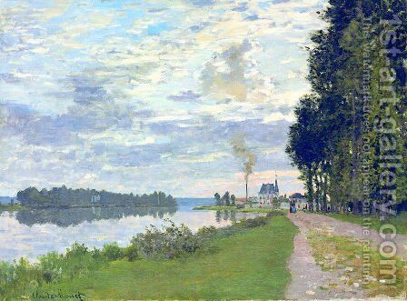 The Promenade at Argenteuil 02 by Claude Oscar Monet - Reproduction Oil Painting