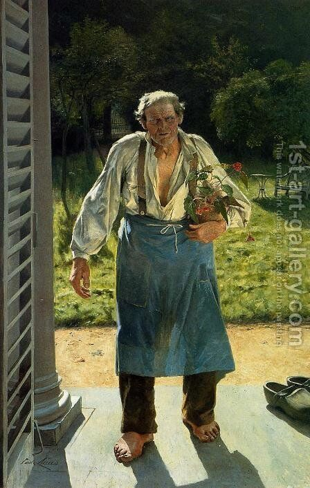 The Old Gardener by Emile Claus - Reproduction Oil Painting