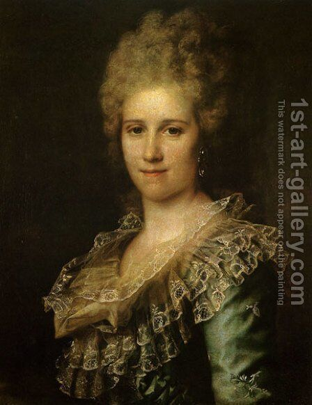 Portrait of Unknown Woman by Dmitry Levitsky - Reproduction Oil Painting