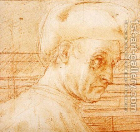 Study of a Man Wearing a Hat by (Jacopo Carucci) Pontormo - Reproduction Oil Painting