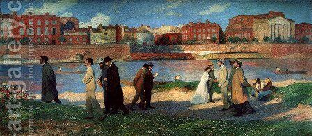 Banks of the Garonne by Henri Martin - Reproduction Oil Painting