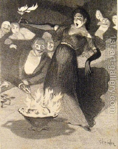 Chanson a Boire by Theophile Alexandre Steinlen - Reproduction Oil Painting