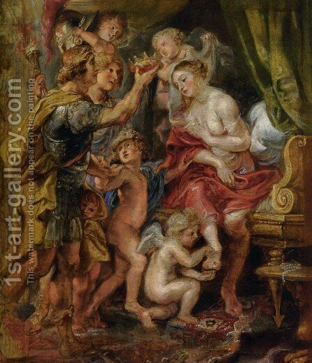 Alexander and Roxana by Rubens - Reproduction Oil Painting