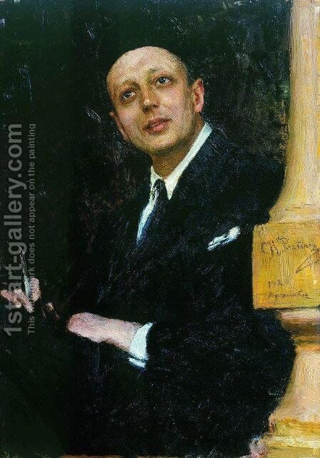 Portrait of the Poet Voinov by Ilya Efimovich Efimovich Repin - Reproduction Oil Painting