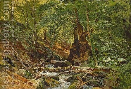 Forest Landscape 5 by Ivan Shishkin - Reproduction Oil Painting