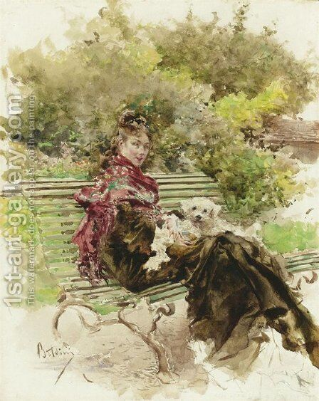 not identified by Giovanni Boldini - Reproduction Oil Painting