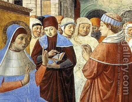 Scenes with St. Ambrose (detail) by Benozzo di Lese di Sandro Gozzoli - Reproduction Oil Painting