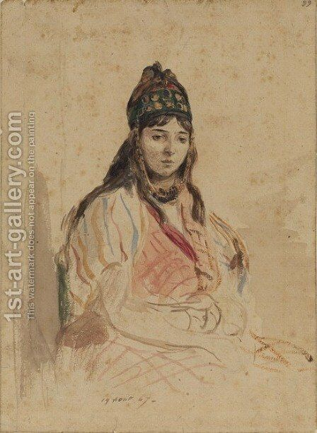 A North African Jewess by Eugene Delacroix - Reproduction Oil Painting