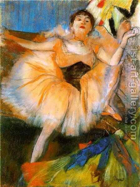 Seated Dancer by Edgar Degas - Reproduction Oil Painting