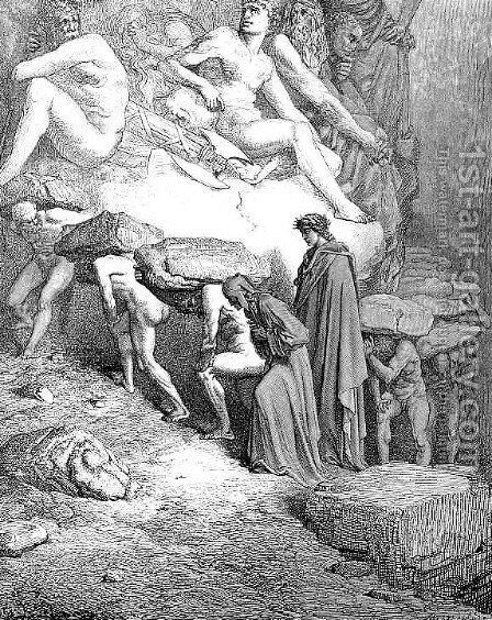 The Prideful--Oderisi by Gustave Dore - Reproduction Oil Painting