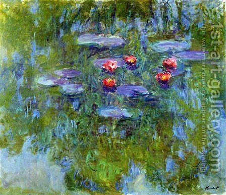 Water Lilies 56 by Claude Oscar Monet - Reproduction Oil Painting