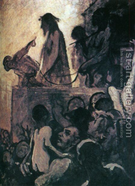 We want Barabbas (Ecce Homo) by Honoré Daumier - Reproduction Oil Painting