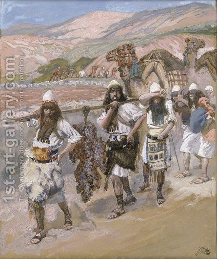 The Grapes of Canaan by James Jacques Joseph Tissot - Reproduction Oil Painting