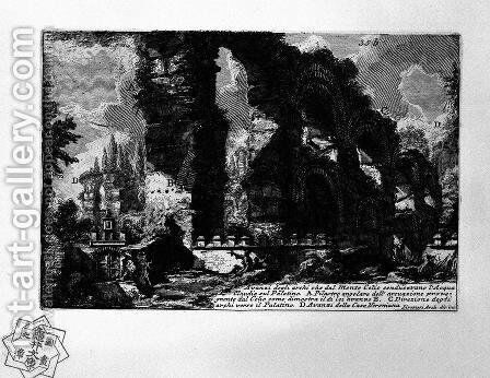 The Roman antiquities, t. 1, Plate XXXIV by Giovanni Battista Piranesi - Reproduction Oil Painting