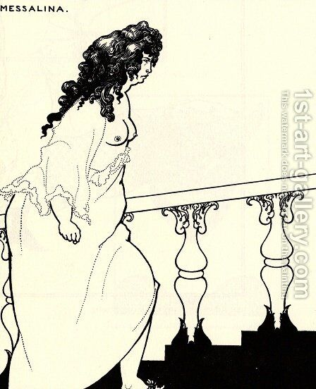 Messalina Returning from the Bath by Aubrey Vincent Beardsley - Reproduction Oil Painting