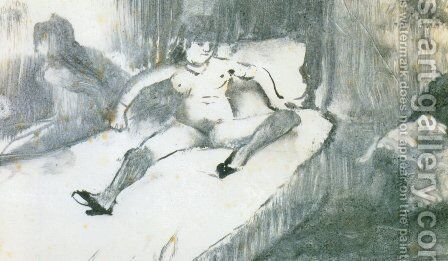 Rest on the bed by Edgar Degas - Reproduction Oil Painting