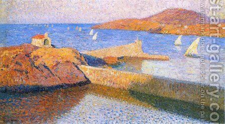 White sails by Henri Martin - Reproduction Oil Painting