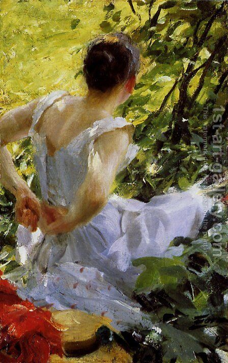In the woods by Anders Zorn - Reproduction Oil Painting