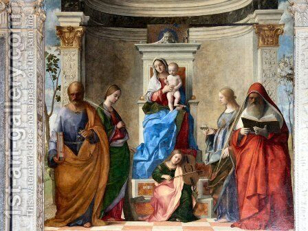 Sacred Conversation by Giovanni Bellini - Reproduction Oil Painting
