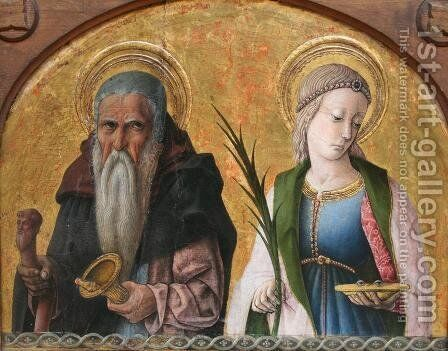 Saints Anthony and Lucia by Carlo Crivelli - Reproduction Oil Painting