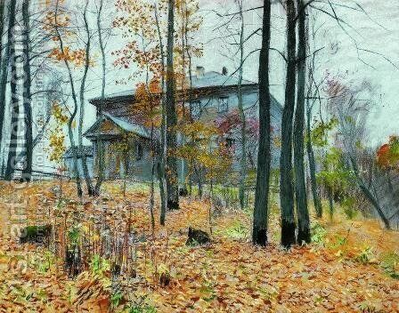 Autumn. The Manor. by Isaak Ilyich Levitan - Reproduction Oil Painting