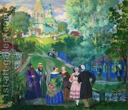 Summer. Province by Boris Kustodiev - Reproduction Oil Painting