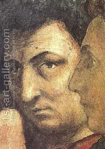 Self portait by Masaccio (Tommaso di Giovanni) - Reproduction Oil Painting