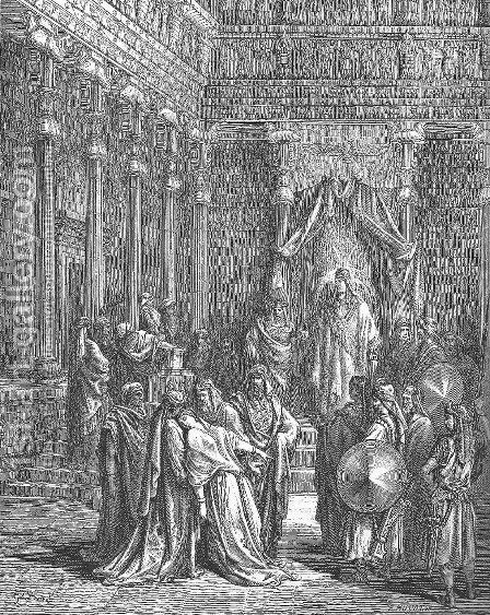 Esther Before the King by Gustave Dore - Reproduction Oil Painting