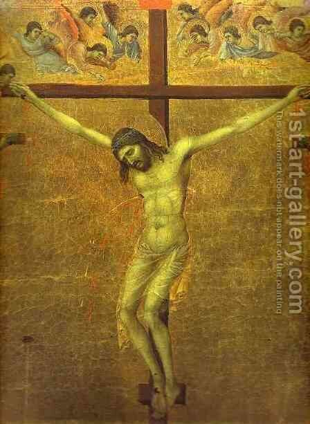 The Crucifixion 1311 by Duccio Di Buoninsegna - Reproduction Oil Painting