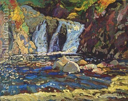 The Little Falls Sketch by James Edward Hervey MacDonald - Reproduction Oil Painting