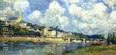The River at Saint Cloud by Alfred Sisley - Reproduction Oil Painting