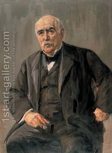 Portrait of Eugen Gutmann by Max Liebermann - Reproduction Oil Painting
