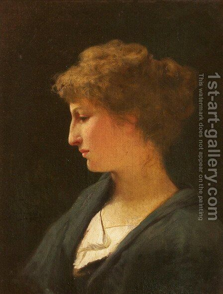 Portrait of a Woman by Henryk Hector Siemiradzki - Reproduction Oil Painting