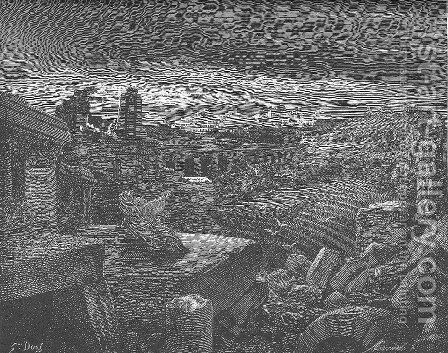 Isaiah's Vision of the Destruction of Babylon by Gustave Dore - Reproduction Oil Painting