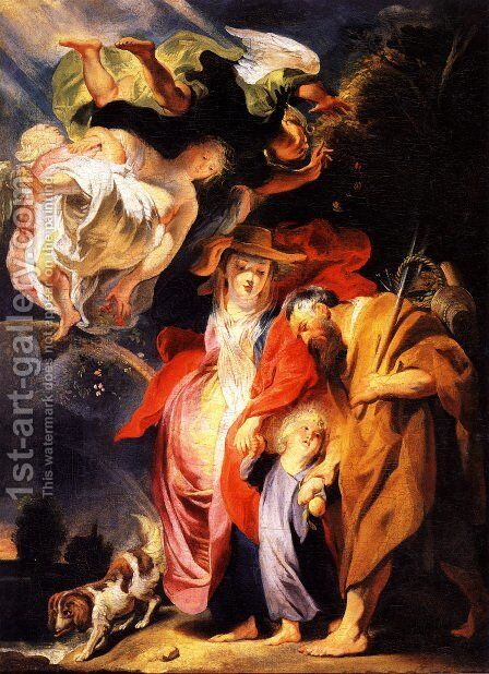 The Return from Egypt of the Holy Family by Jacob Jordaens - Reproduction Oil Painting