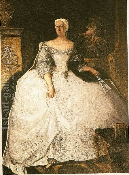 Portrait of Teofila Dziayska by Antoine Pesne - Reproduction Oil Painting