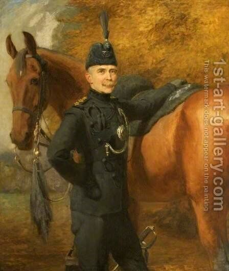 Lord Roundway of Devizes, Wiltshire by Briton Rivière - Reproduction Oil Painting
