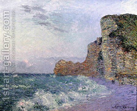 Cliffs in Normandy   Evening by Gustave Loiseau - Reproduction Oil Painting